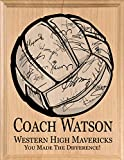 volleyball signed plaque gift for coaches